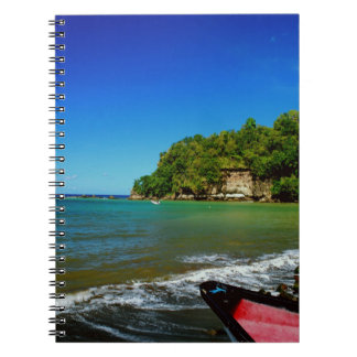 Oceanside view in Saint  Lucia Spiral Note Book