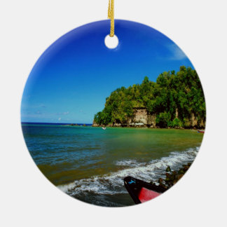 Oceanside view in Saint  Lucia Christmas Ornaments