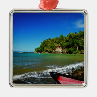 Oceanside view in Saint  Lucia Christmas Ornament