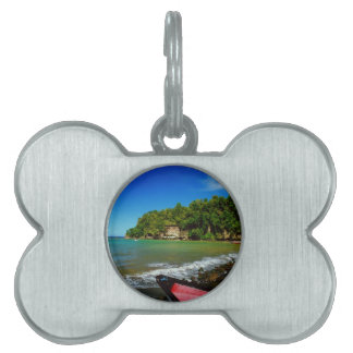 Oceanside view in Saint  Lucia Pet Tag