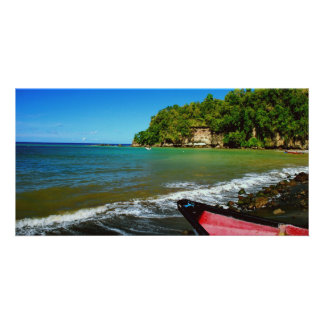 Oceanside view in Saint  Lucia Photo Cards