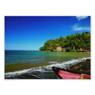 Oceanside view in Saint  Lucia Photograph