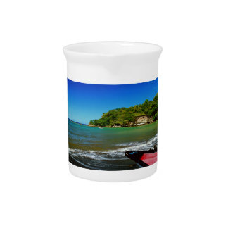 Oceanside view in Saint  Lucia Drink Pitchers