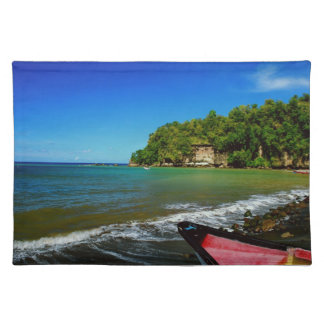 Oceanside view in Saint  Lucia Place Mats