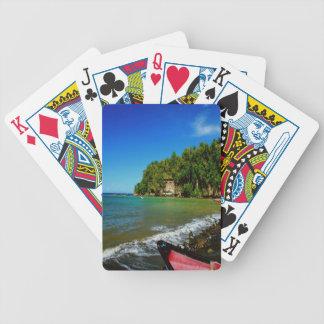 Oceanside view in Saint  Lucia Card Decks