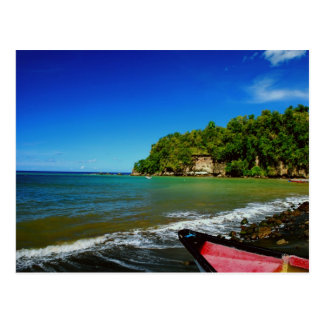 Oceanside view in Saint  Lucia Post Cards