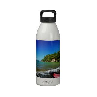 Oceanside view in Saint  Lucia Water Bottle