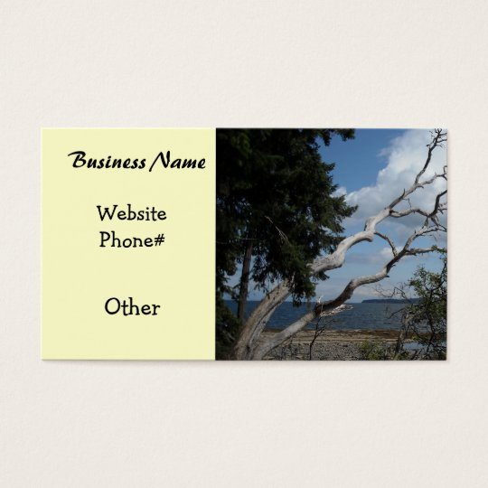 Oceanview with Unique Tree Business Card