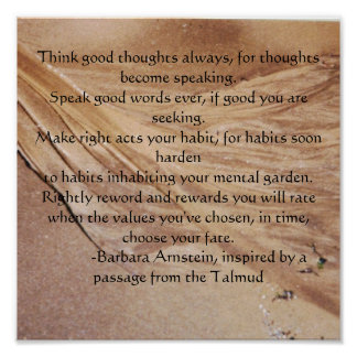oceanwaveone 001, Think good thoughts always, f... Poster