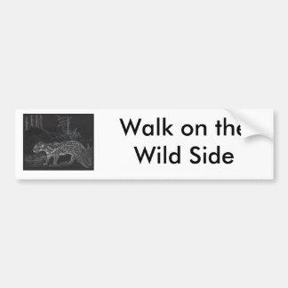 Ocelot4, paseo en el lado salvaje pegatina para auto