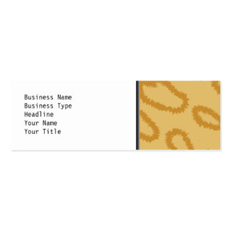 Ocelot Animal Print Pattern, Brown and Tan Colors. Double-Sided Mini Business Cards (Pack Of 20)