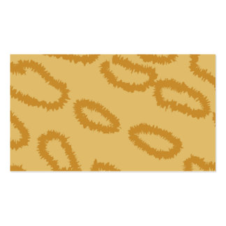 Ocelot Animal Print Pattern, Brown and Tan Colors. Double-Sided Standard Business Cards (Pack Of 100)