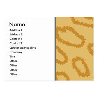 Ocelot Animal Print Pattern, Brown and Tan Colors. Large Business Cards (Pack Of 100)