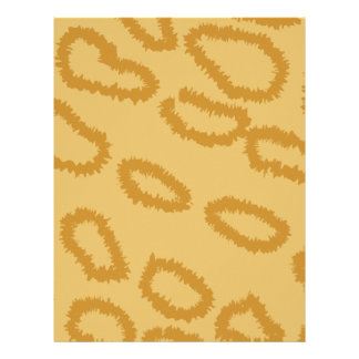 Ocelot Animal Print Pattern, Brown and Tan Colors. Customized Letterhead