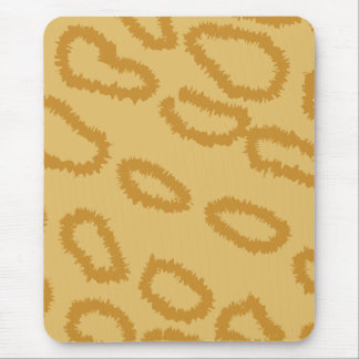 Ocelot Animal Print Pattern, Brown and Tan Colors. Mouse Pad