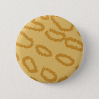 Ocelot Animal Print Pattern, Brown and Tan Colors. Pinback Button