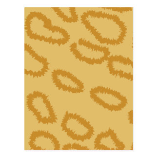 Ocelot Animal Print Pattern, Brown and Tan Colors. Postcard