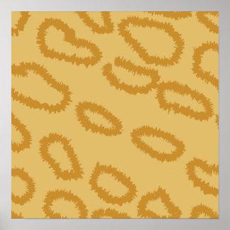 Ocelot Animal Print Pattern, Brown and Tan Colors.