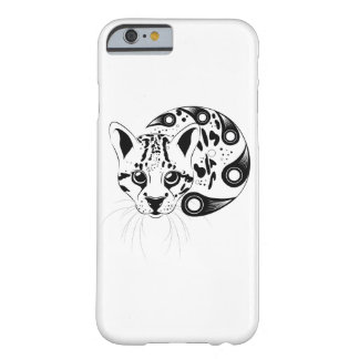 Ocelot Big Cat Ink Art Barely There iPhone 6 Case
