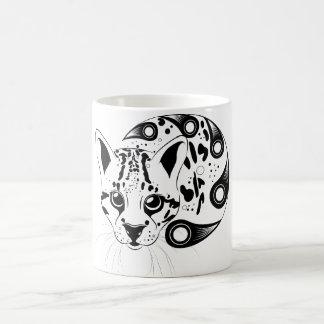 Ocelot Big Cat Ink Art Classic White Coffee Mug