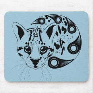 Ocelot Big Cat Ink Art Mouse Pad
