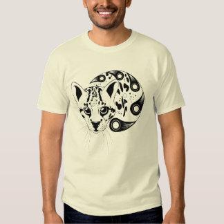 Ocelot Big Cat Ink Art T Shirt