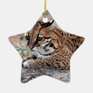 Ocelot Christmas Ornament