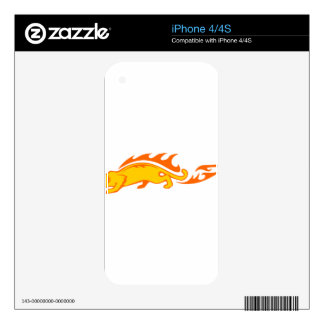 Ocelot in Flames Decal For The iPhone 4S