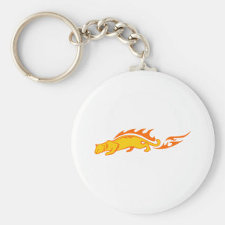 Ocelot in Flames Keychain