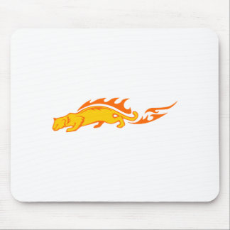 Ocelot in Flames Mouse Pad