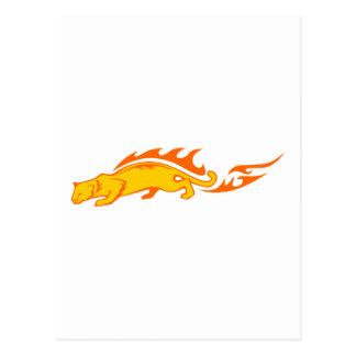 Ocelot in Flames Postcard
