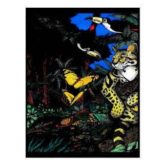Ocelot in Rain Forest Postcard