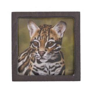 Ocelot - pequeña caja de la baratija caja de regalo de calidad