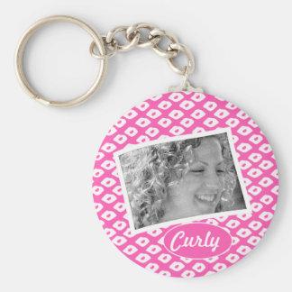 Ocelot Photo Frames - Pink Basic Round Button Keychain