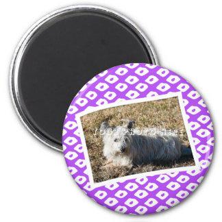 Ocelot Photo Frames - Purple 2 Inch Round Magnet