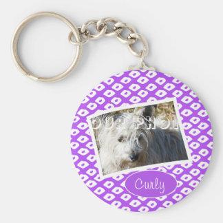 Ocelot Photo Frames - Purple Basic Round Button Keychain