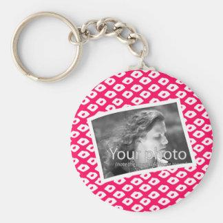 Ocelot Photo Frames - Red Basic Round Button Keychain