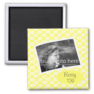 Ocelot Photo Frames - Yellow 2 Inch Square Magnet