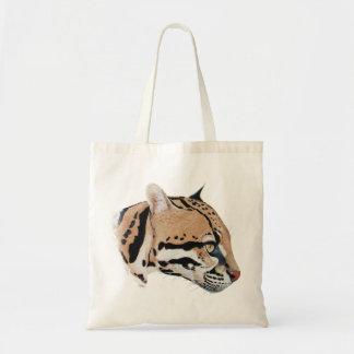 Ocelot Portrait Budget Tote Bag