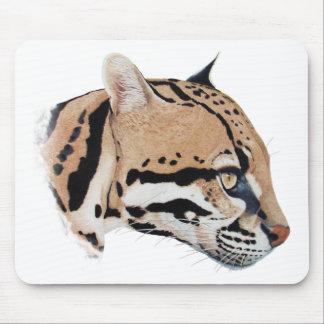 Ocelot Portrait Mouse Pad
