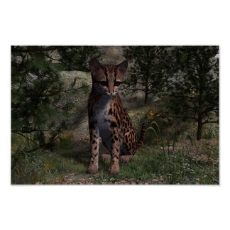 Ocelot Thought Print