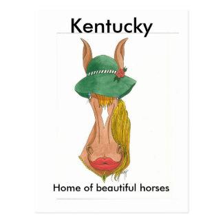 OceTDS184, Kentucky, Home of beautiful horses Postcard
