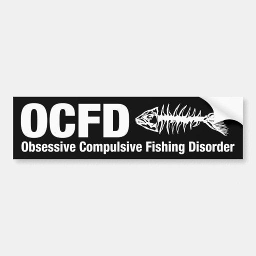 OCFD, desorden obsesivo de la pesca Etiqueta De Parachoque