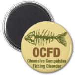 OCFD OCD Fishing 2 Inch Round Magnet