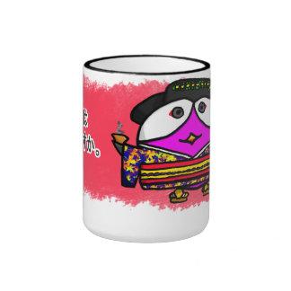 Ocha wa ikaga desu ka ringer coffee mug