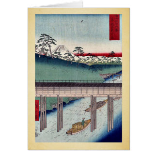 Ochanomizu in a eastern capitol by Ando,Hiroshige Greeting Cards