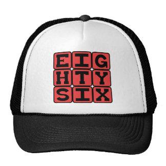 Ochenta y seis, número 86 gorras de camionero
