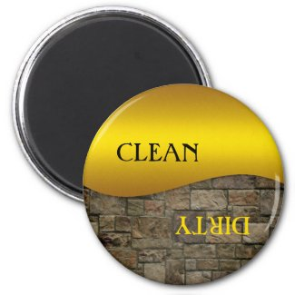 Ocher Stone Clean Dirty Dishwasher Magnet