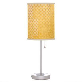 Ocher Yellow Patterned Polka Dots Lamp