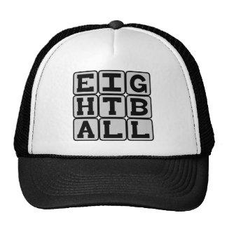 Ocho bola, juego de los billares gorras de camionero